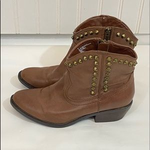 Mossimo Brown Studded Ankle Boots